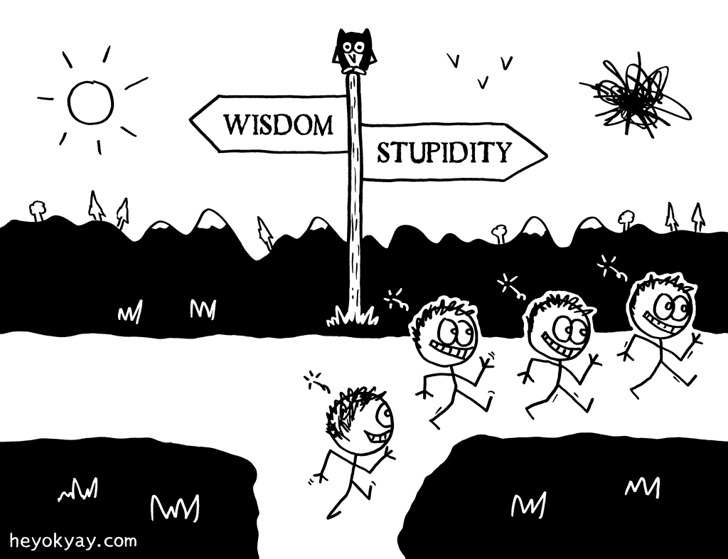 Choice | Hey ok yay? | wisdom, stupidity, fork, idiots, ignorance, dumb, intelligence