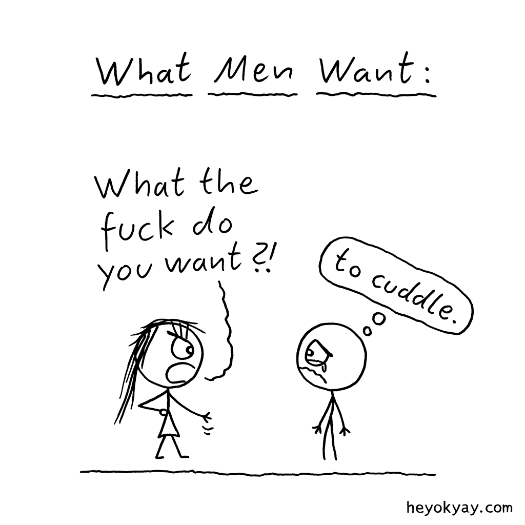 what men want comic hey ok yay