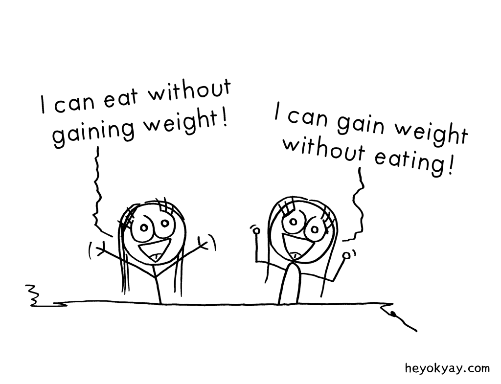 Talents | Hey ok yay? | I can eat without gaining weight! I can gain weight without eating! | Bodyweight, diet