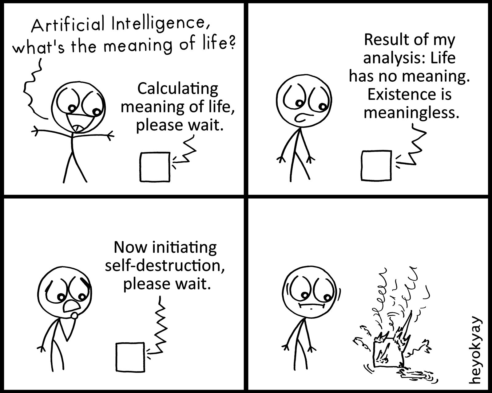 Artificial Intelligence heyokyay comic