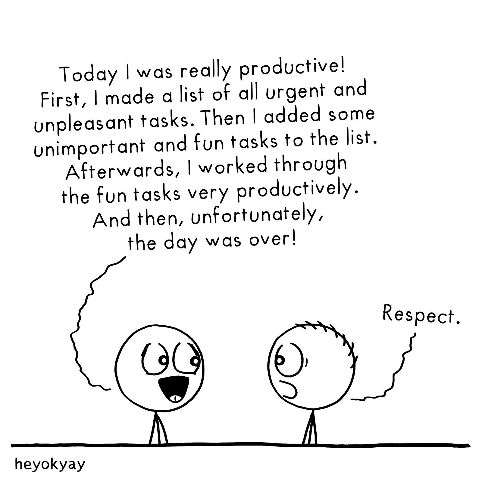 Being Productive heyokyay comic