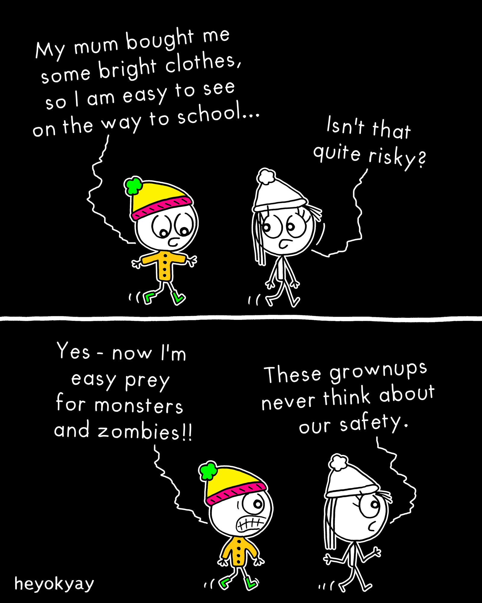 Bright Clothes heyokyay comic