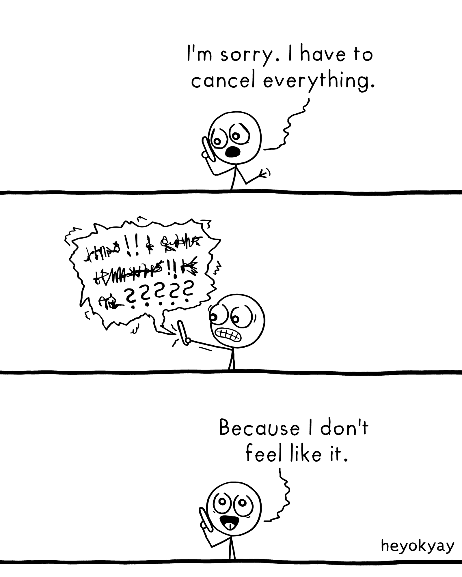 Cancellation heyokyay comic