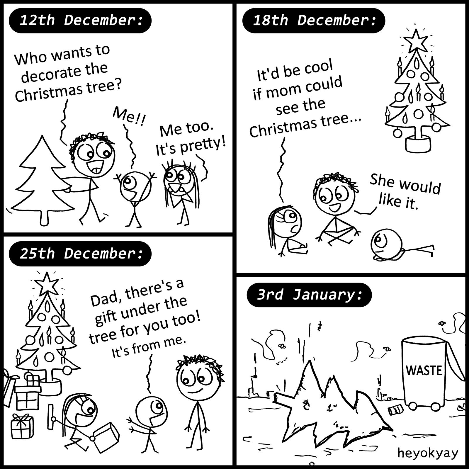 Christmas Tree heyokyay comic