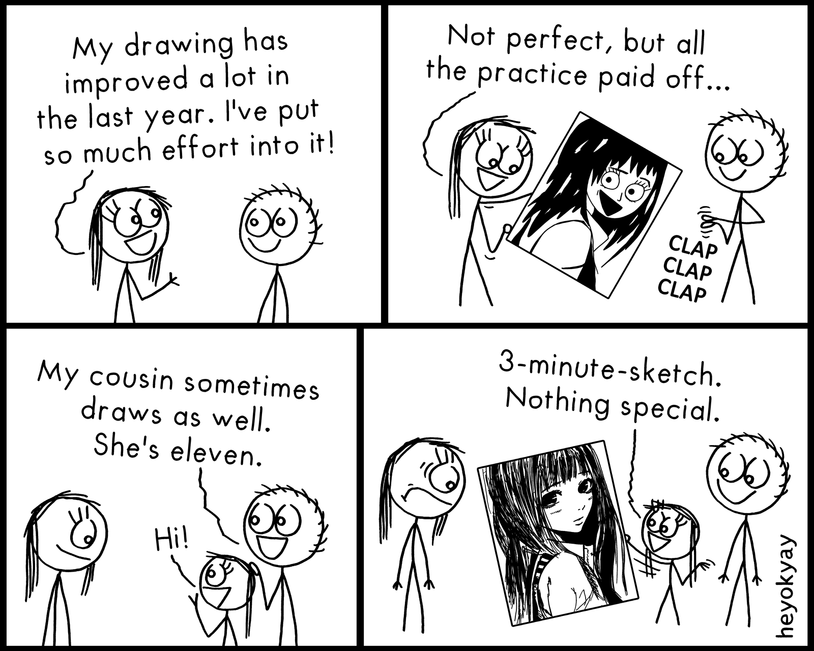 Drawing Skills heyokyay comic