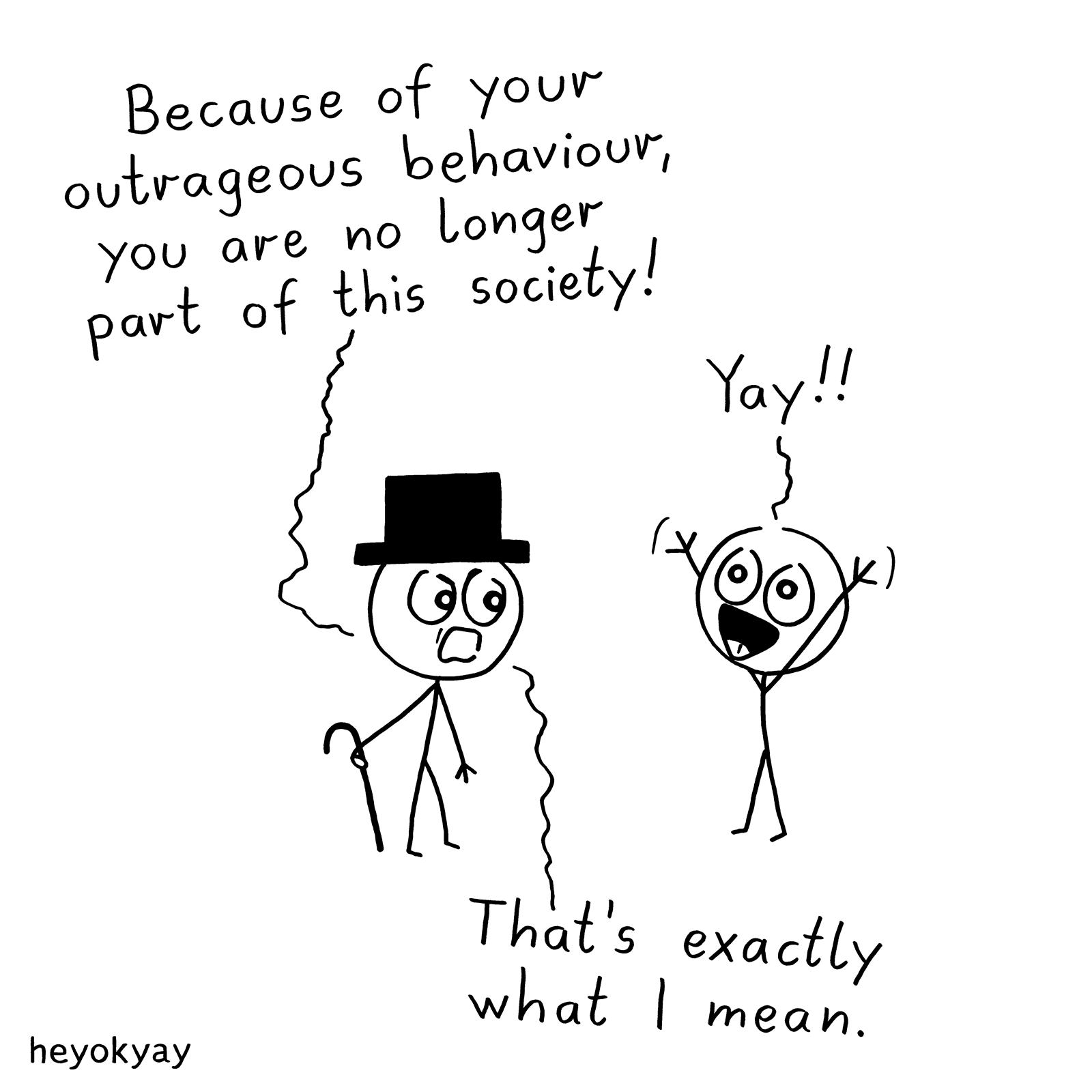 Exclusion heyokyay comic