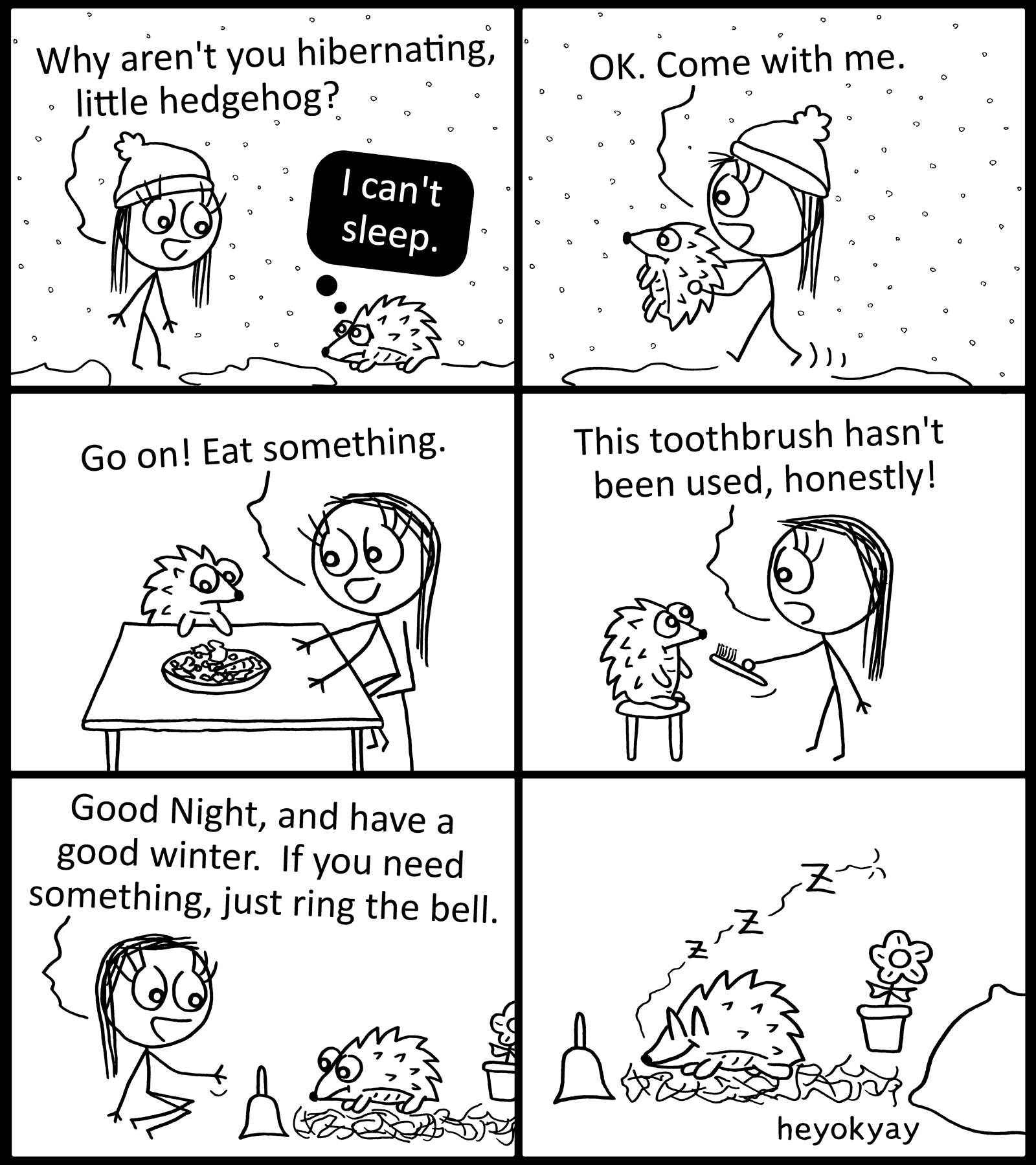 Hibernation heyokyay comic