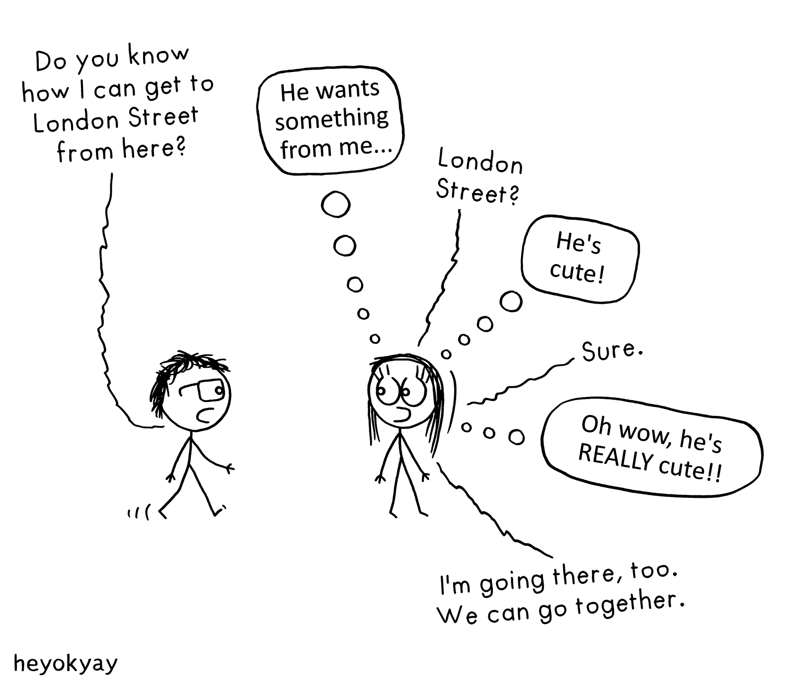 London Street heyokyay comic