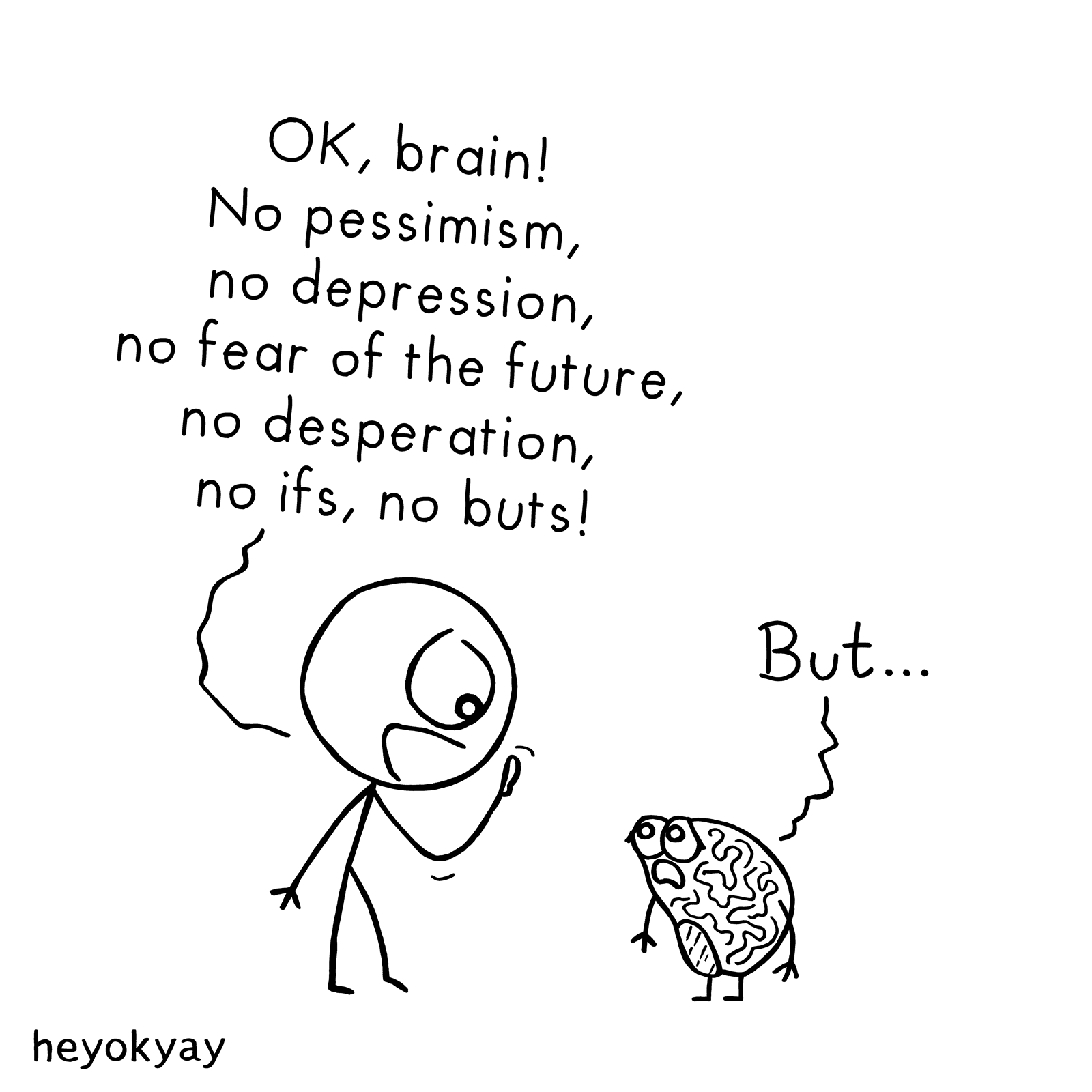 OK, Brain! heyokyay comic