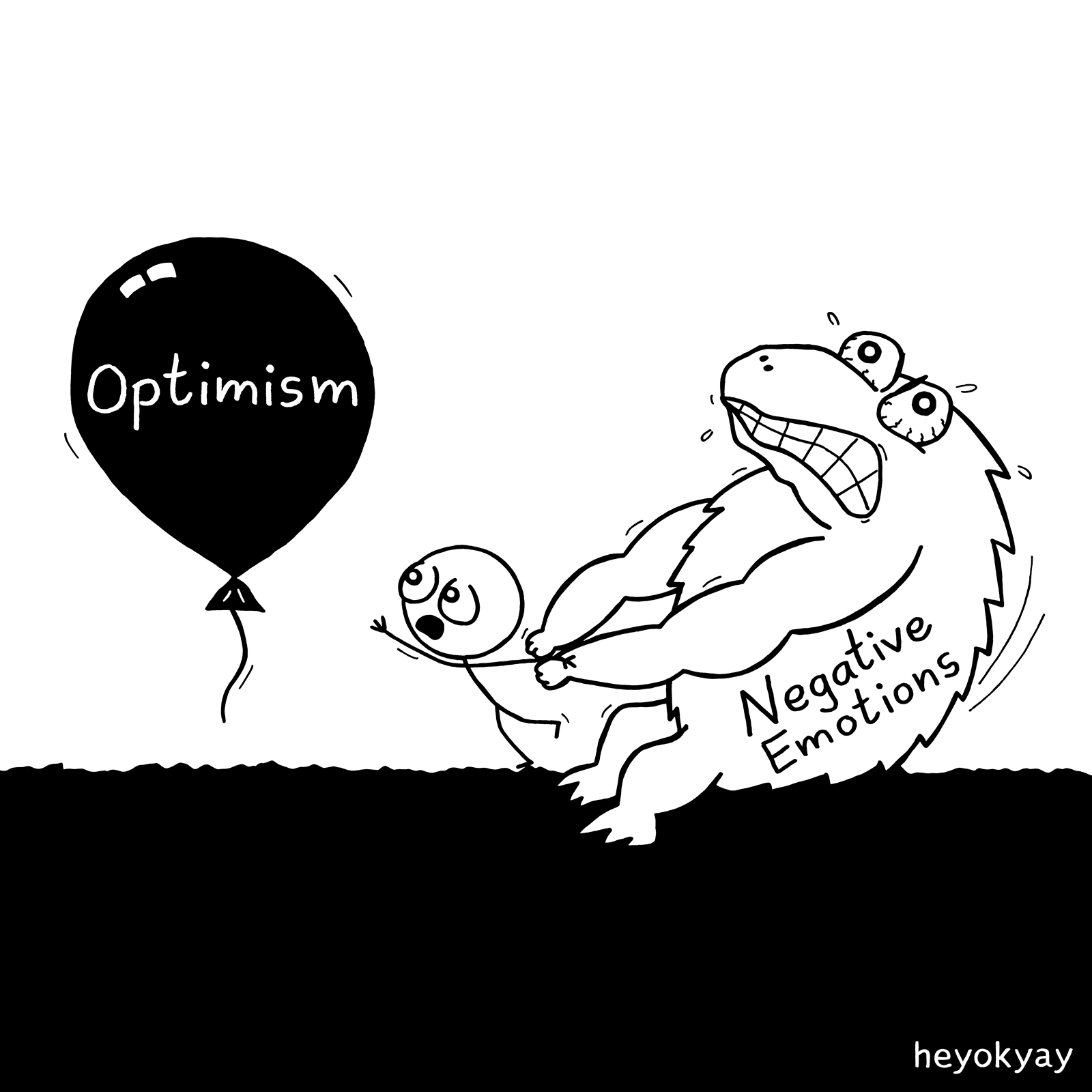 Optimism heyokyay comic