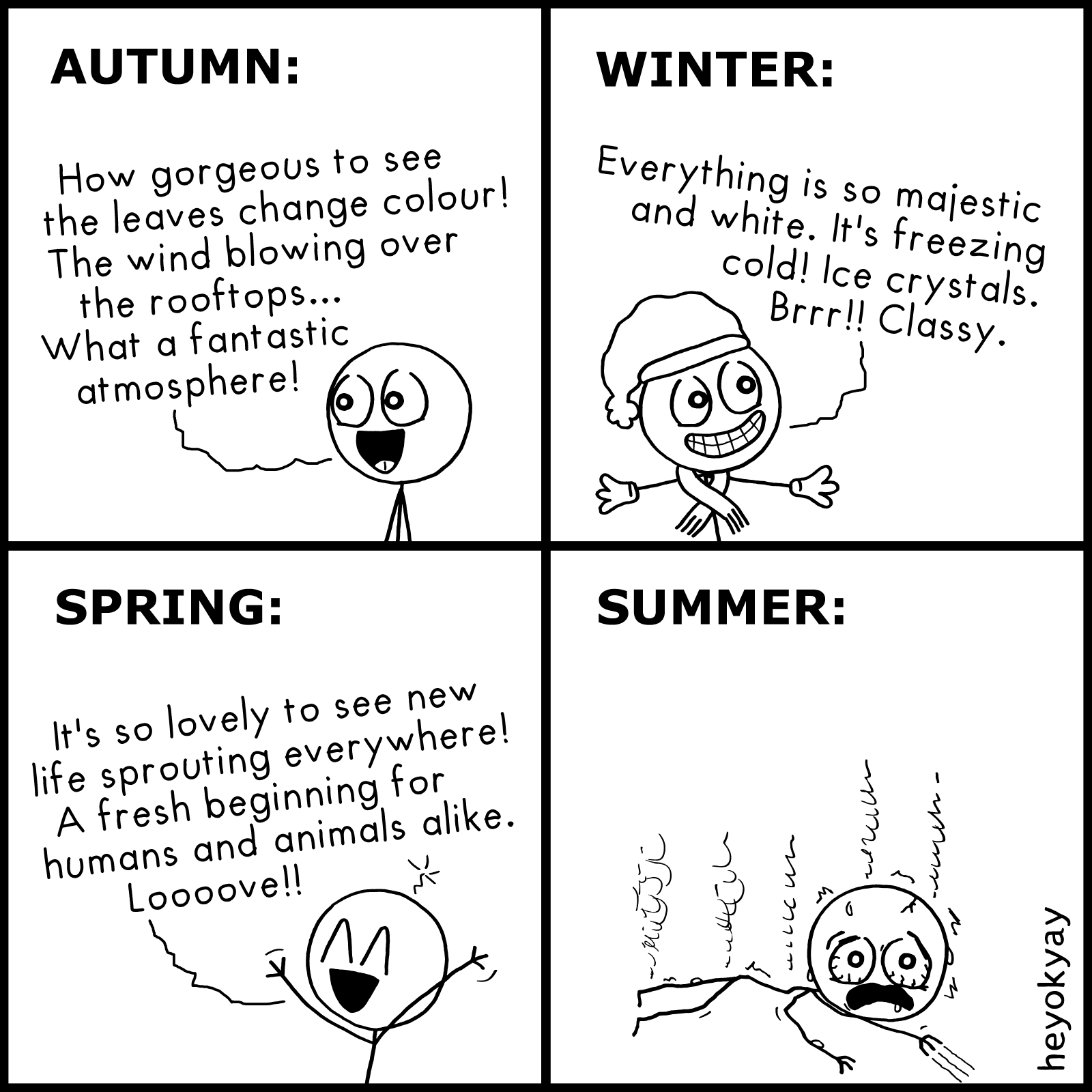 The Four Seasons heyokyay comic