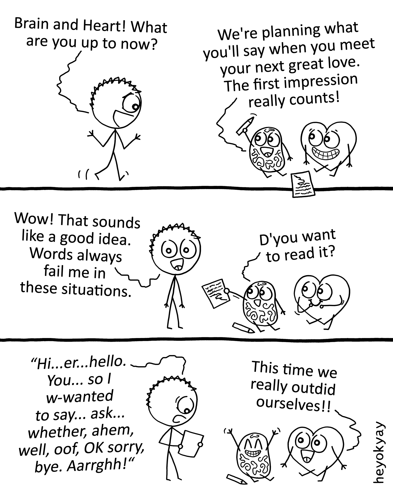 The Right Words heyokyay comic