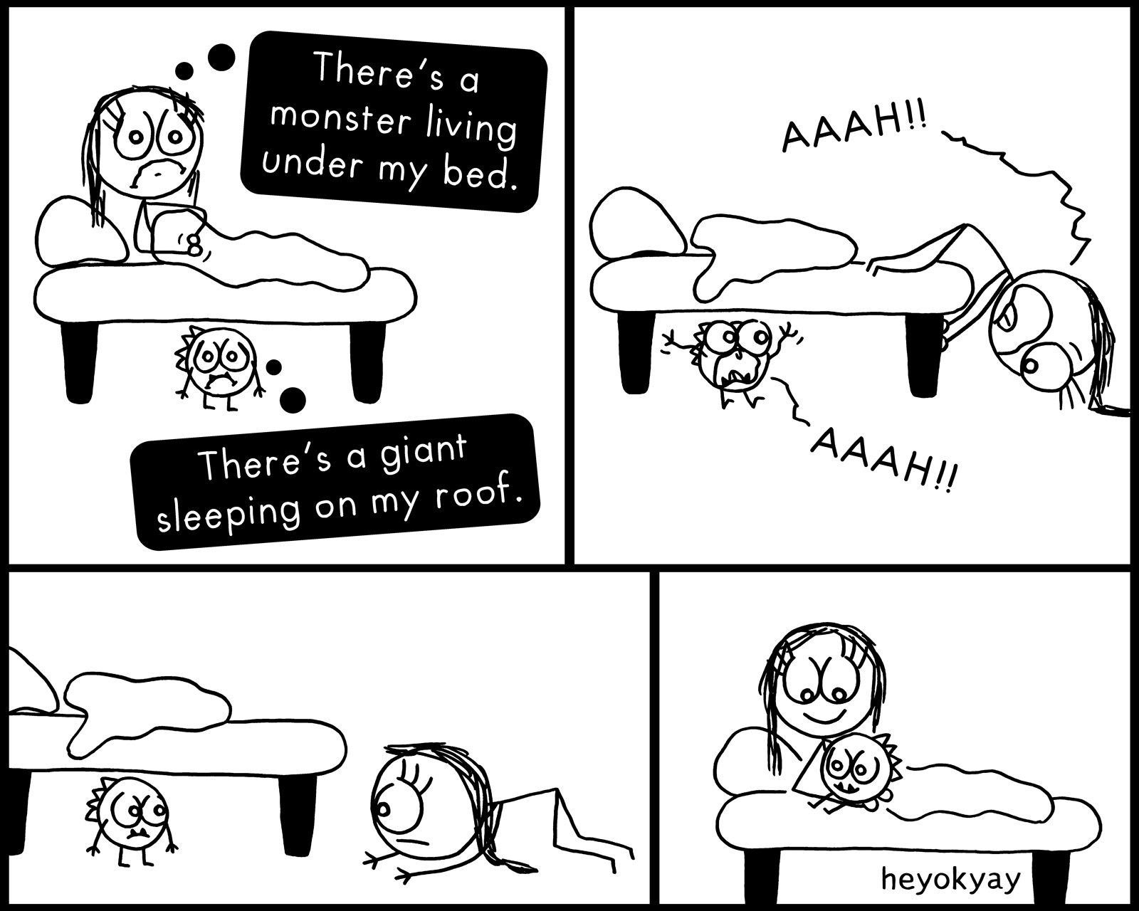 Under my bed | Hey ok yay?
