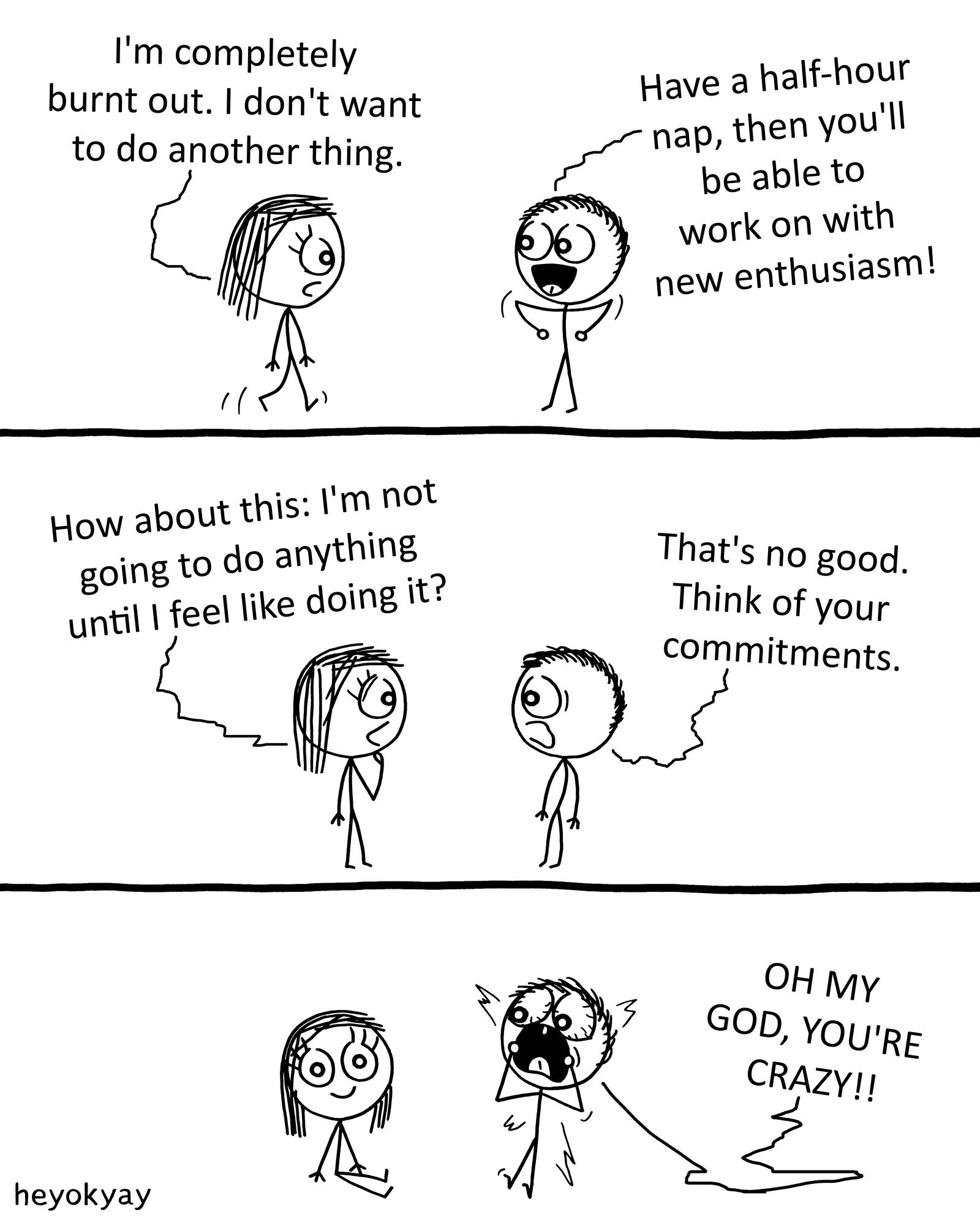 Burnout heyokyay comic