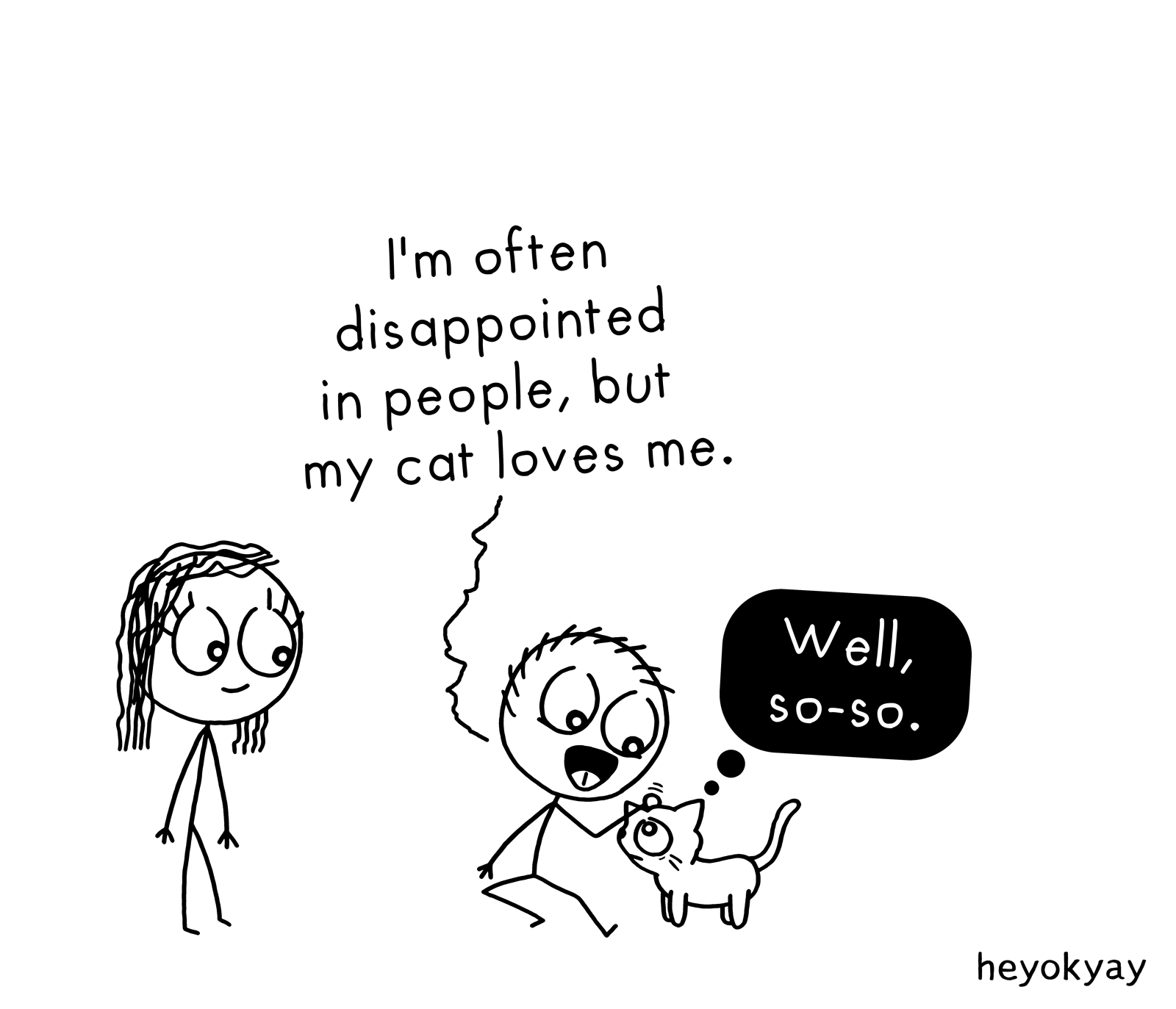 Cat Love heyokyay comic