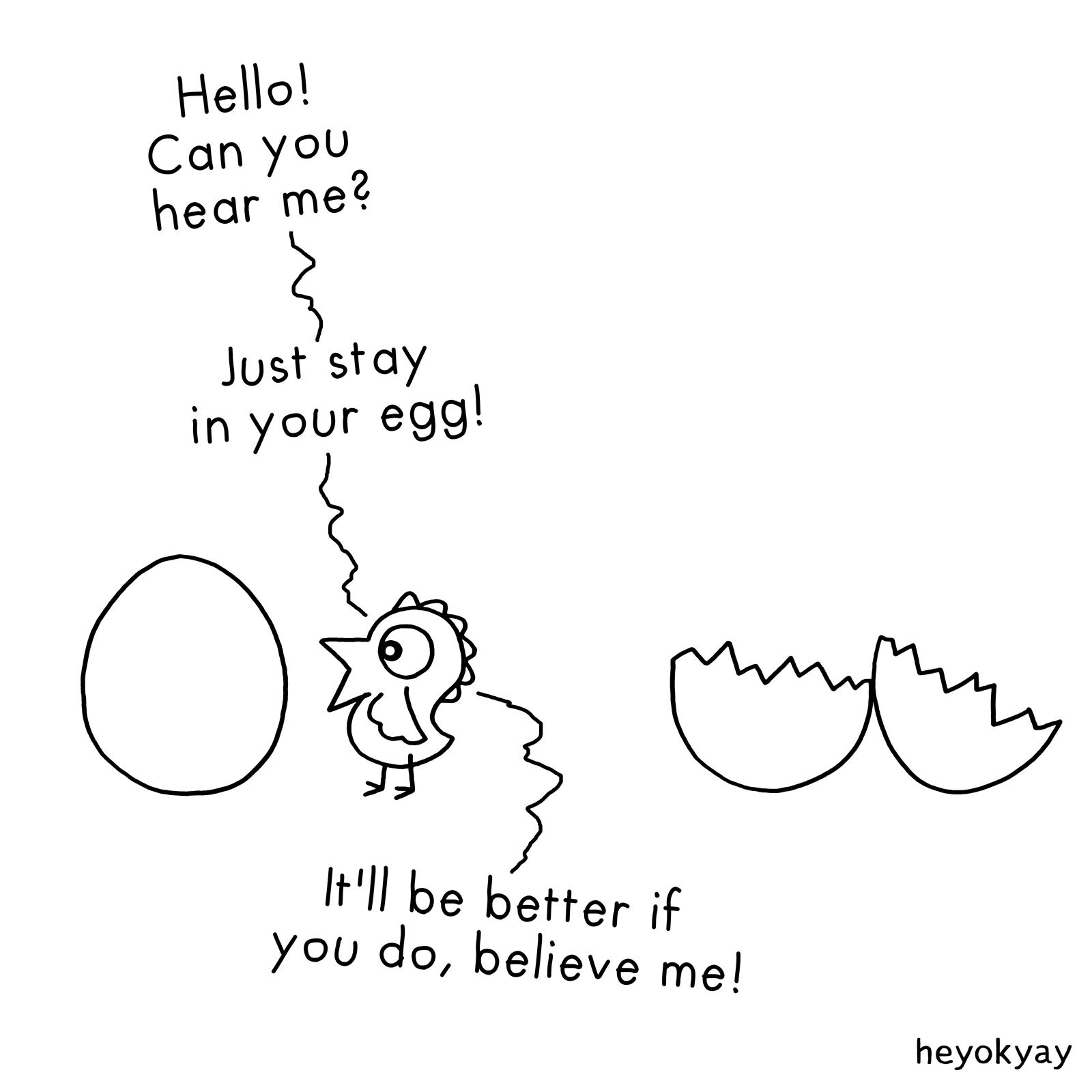 Egg Cartoon heyokyay comic