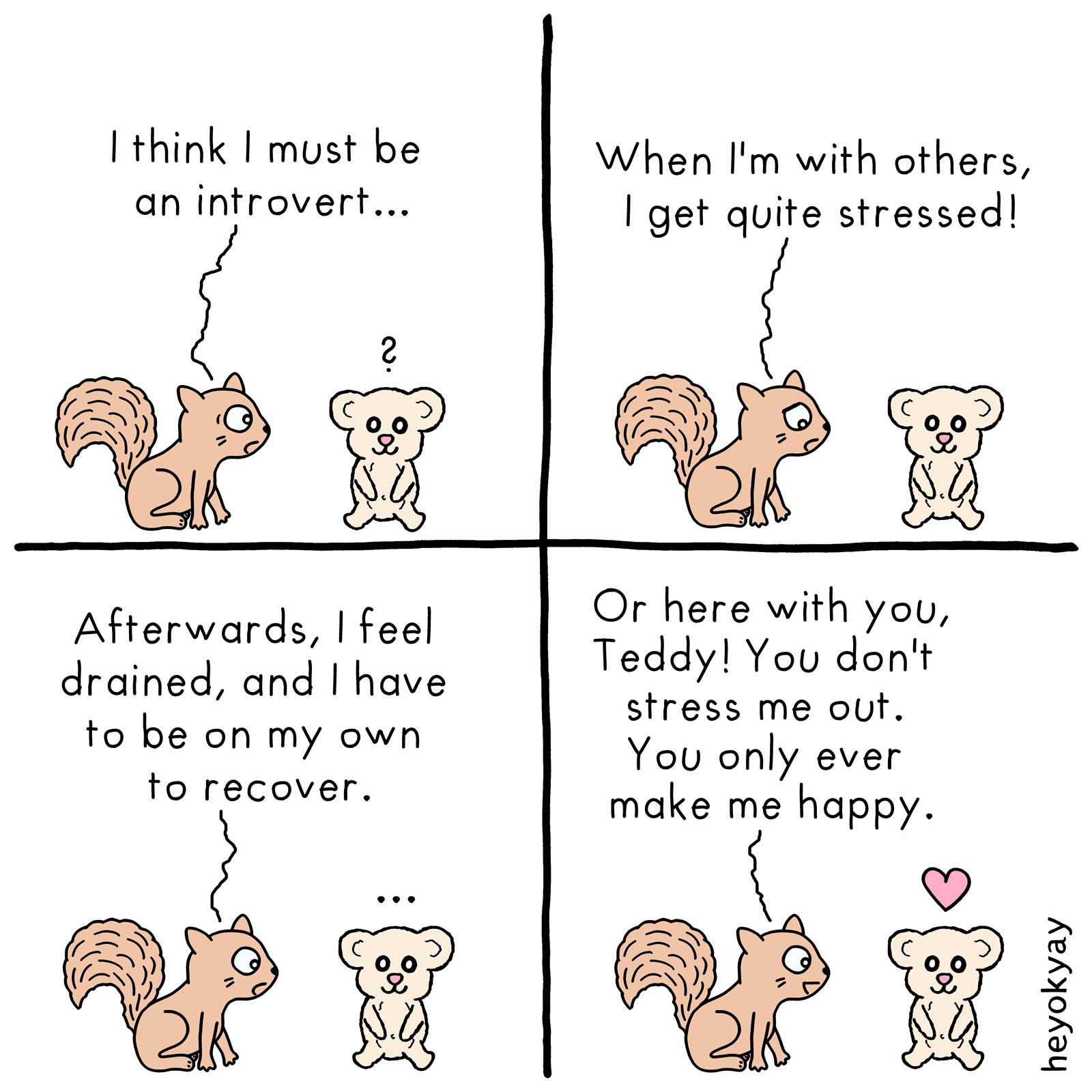 Introvert heyokyay comic
