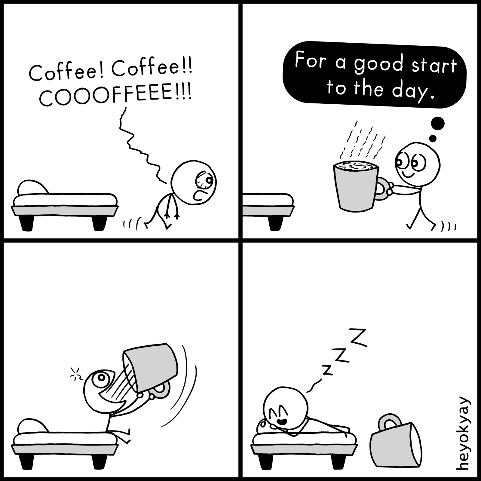 Morning Coffee heyokyay comic