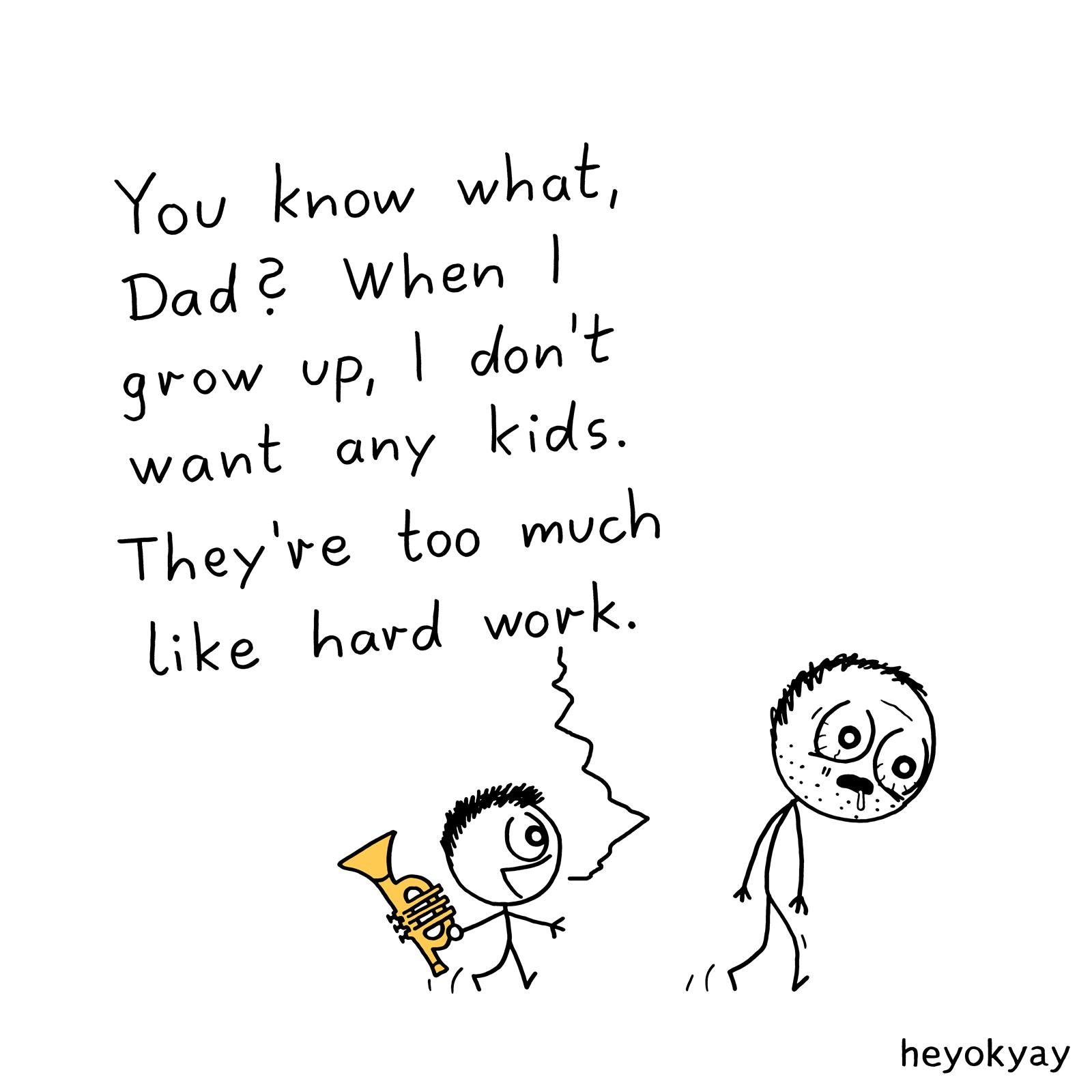 No Kids heyokyay comic