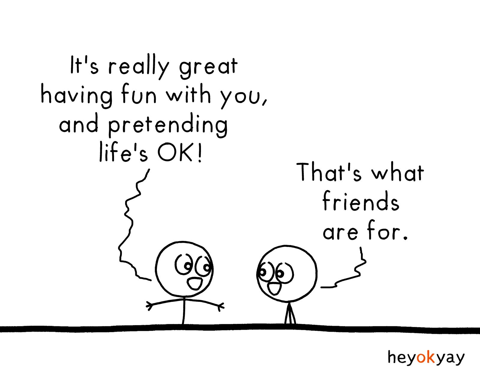 Pretending heyokyay comic