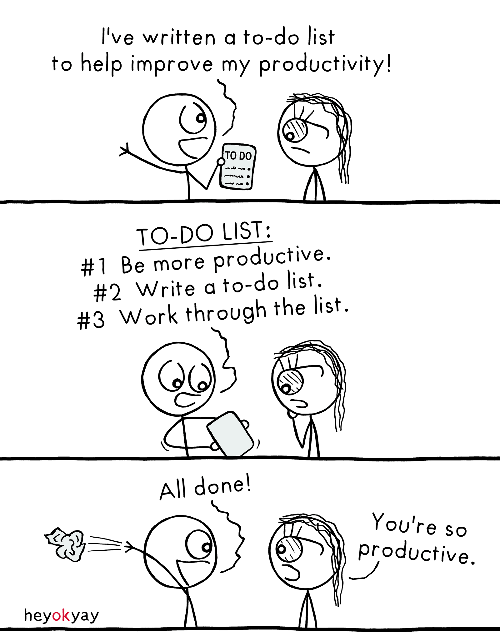 Productivity heyokyay comic