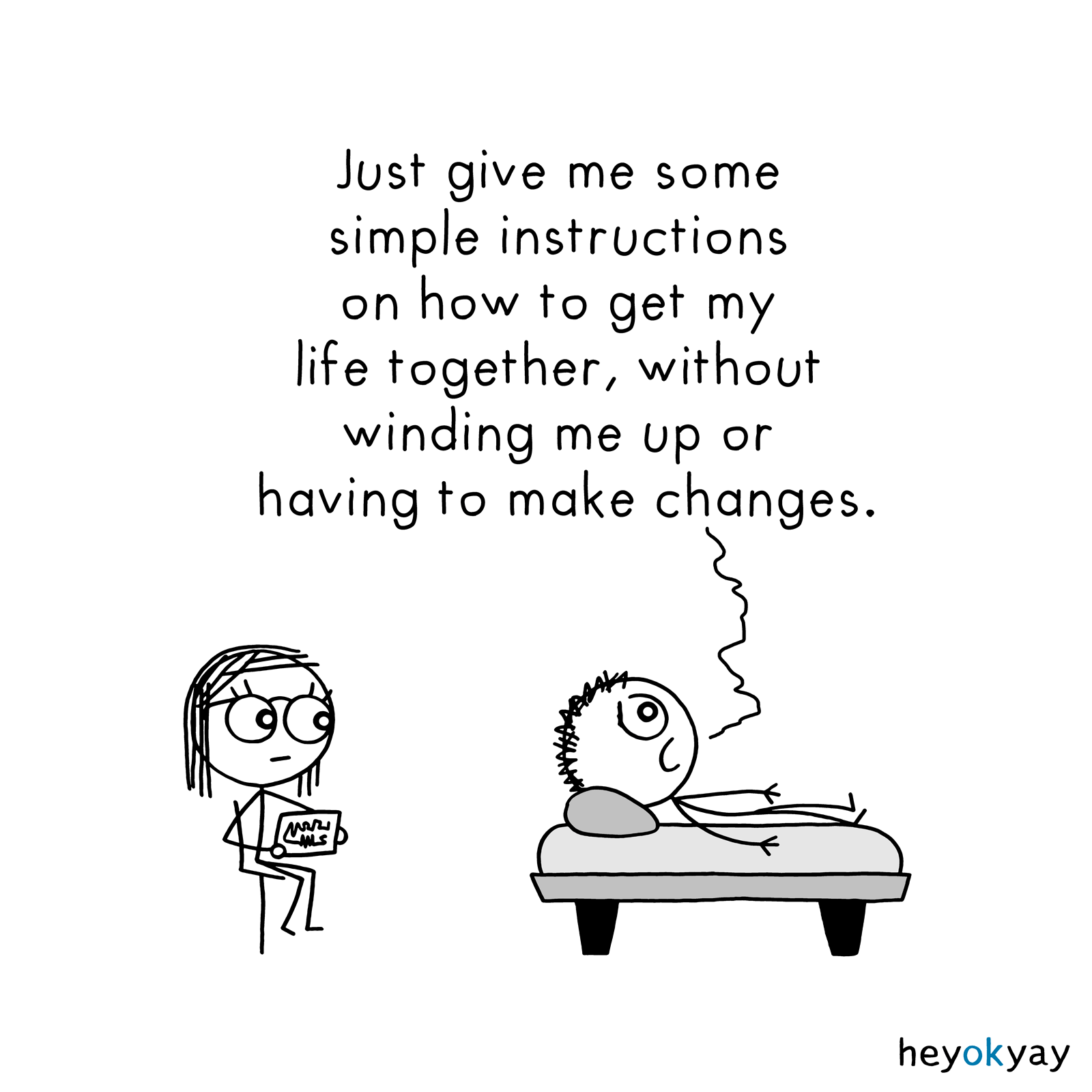 Simple Instructions heyokyay comic
