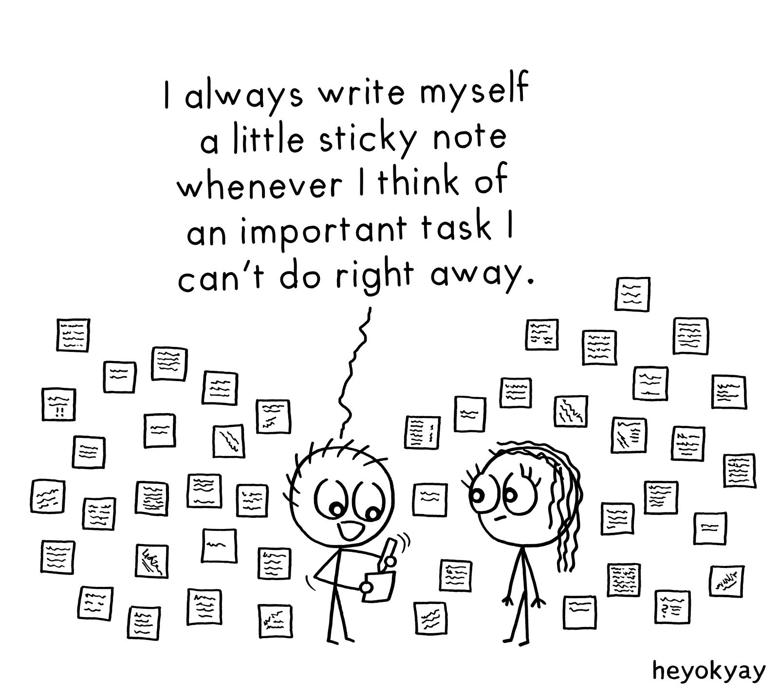 Sticky Notes heyokyay comic
