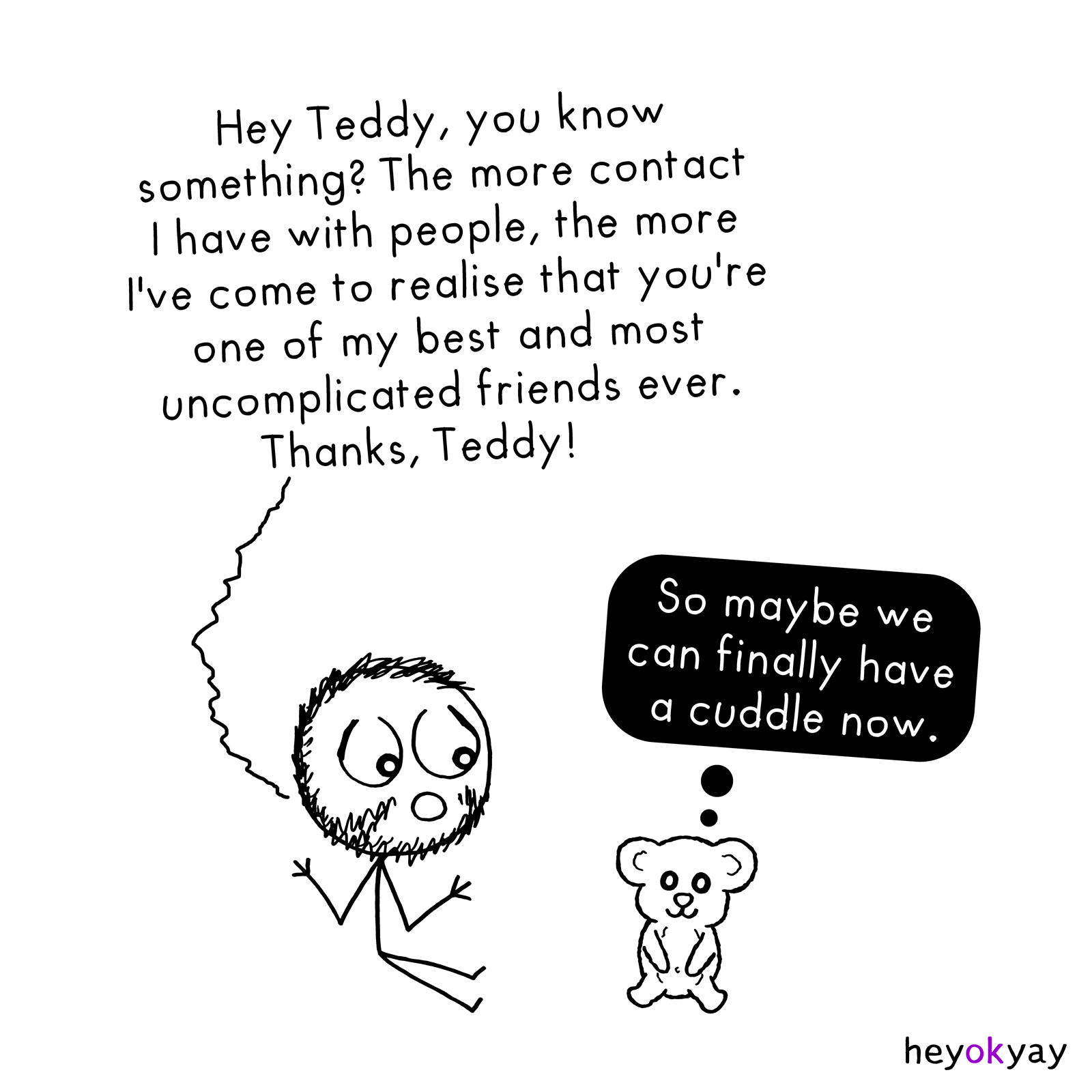 Teddy heyokyay comic