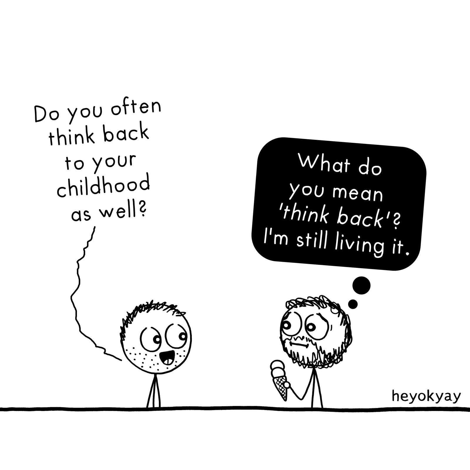 Think Back heyokyay comic
