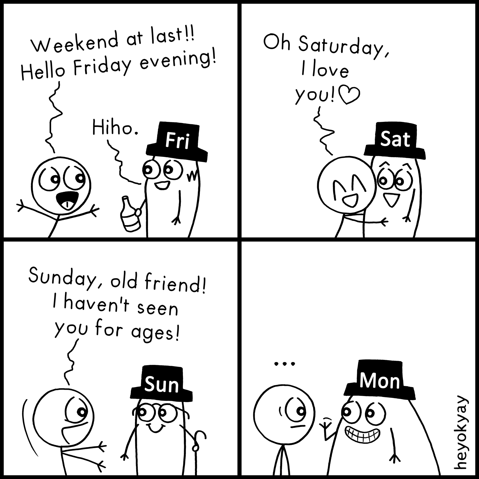 Weekend At Last heyokyay comic
